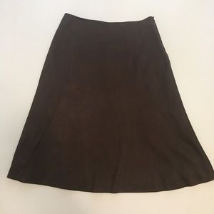 14P Kate Hill Faux Suede Midi Skirt